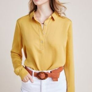 Anthropologie Steinbeck Tunic in Gold